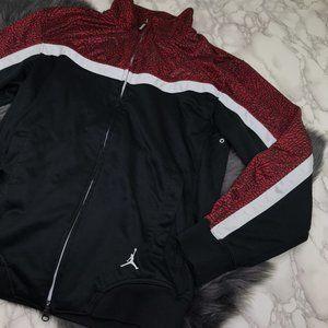 Jordan Mens Jacket Red Black Zip Small